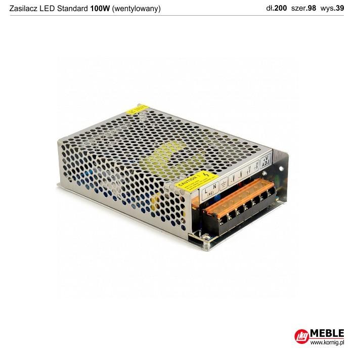 Zasilacz LED Standard wentylowany 100W