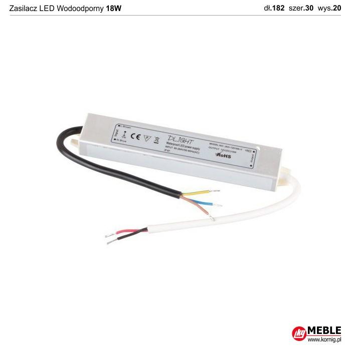 Zasilacz LED Wodoodporny 18W