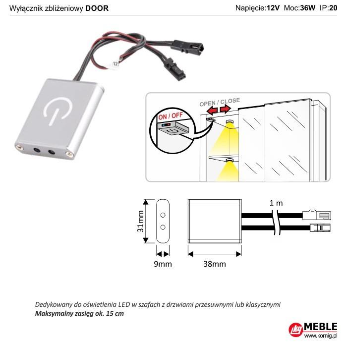 Wyłącznik zbliżeniowy DOOR (do szaf)