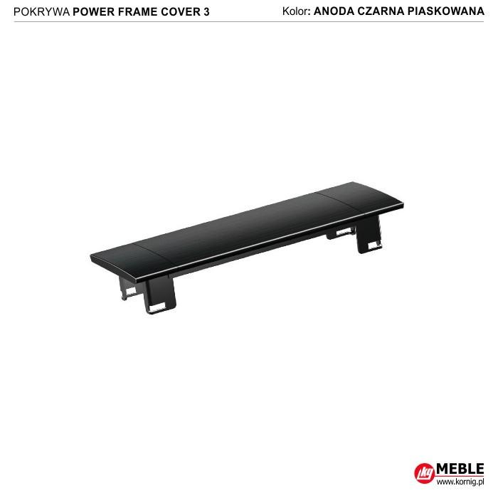 Power Frame Cover-3 anoda czarna piaskowana