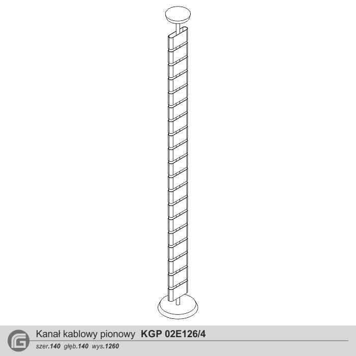 Kanał kablowy KGP 02E126 do 4 kabli