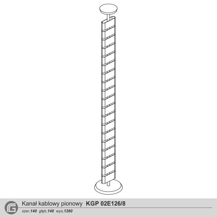 Kanał kablowy KGP 02E126 do 8 kabli