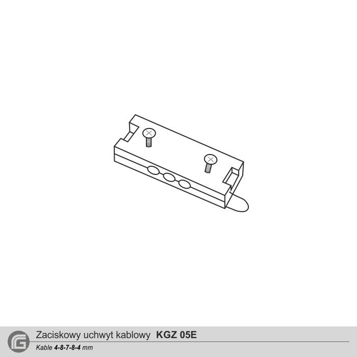 Zaciskowy uchwyt kablowy KGZ 05E