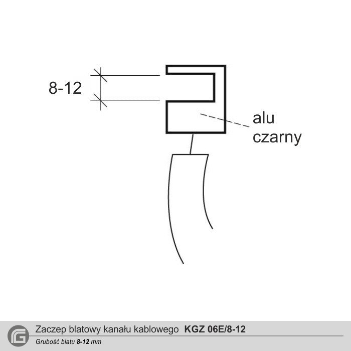 Zaczep blatowy KGZ 06E (blat 8-12 mm)