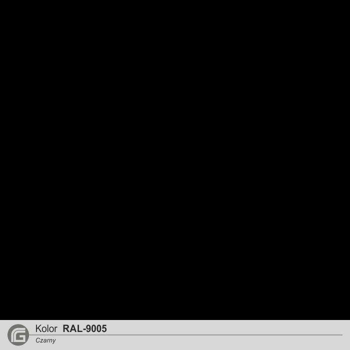 Kolor RAL-9005 czarny