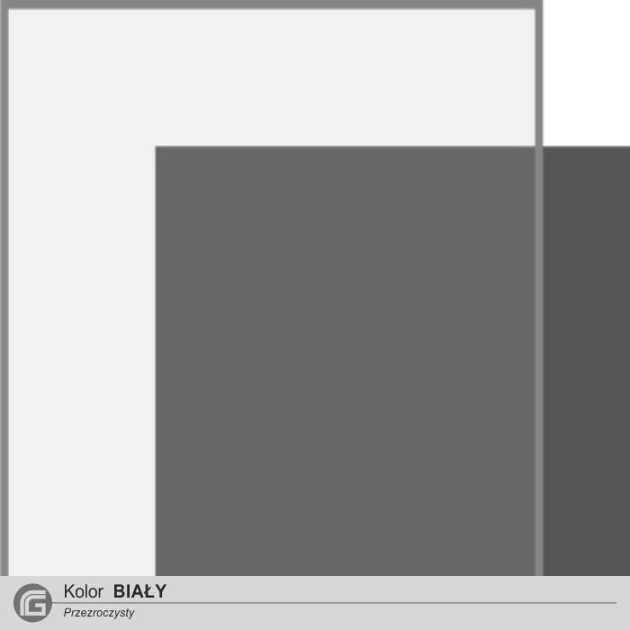 Kolor biały przezroczysty