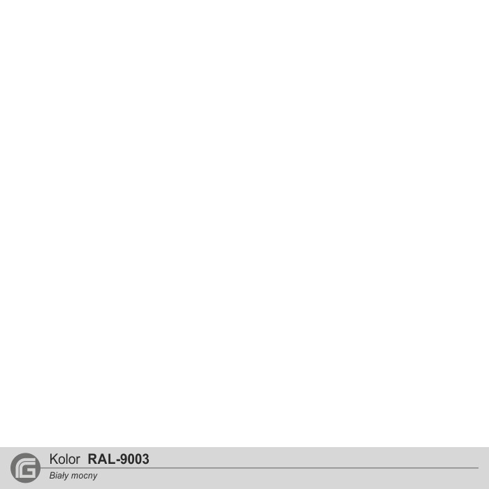 Biały (podobny do RAL9003)